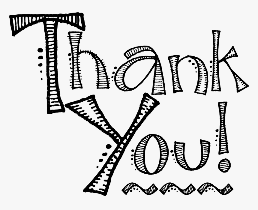 Vector Thank You Icon Black And White Thank You Clipart Hd Png Download Kindpng