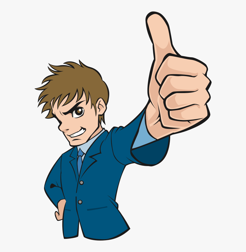 Sign Language,human,arm - Man Thumbs Up Cartoon, HD Png Download, Free Download