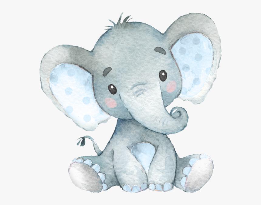 Floral Elephant Baby Shower Hd Png Download Kindpng