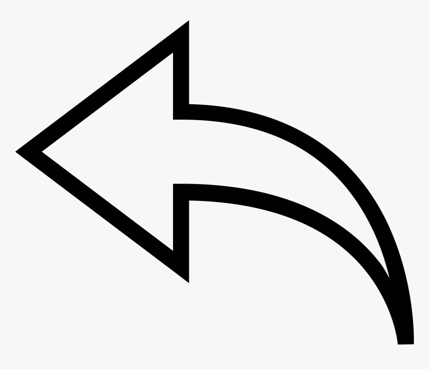 White Left Arrow Png, Transparent Png, Free Download