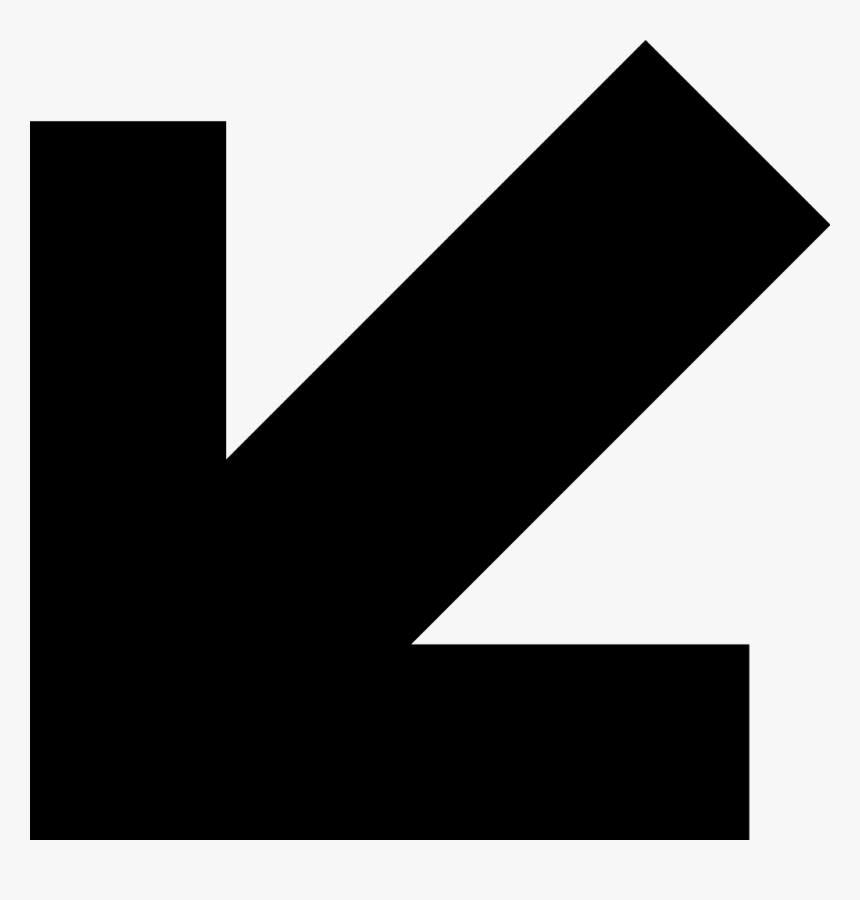 Arrow Pointing Down Png - Flecha Diagonal Abajo Izquierda, Transparent Png, Free Download