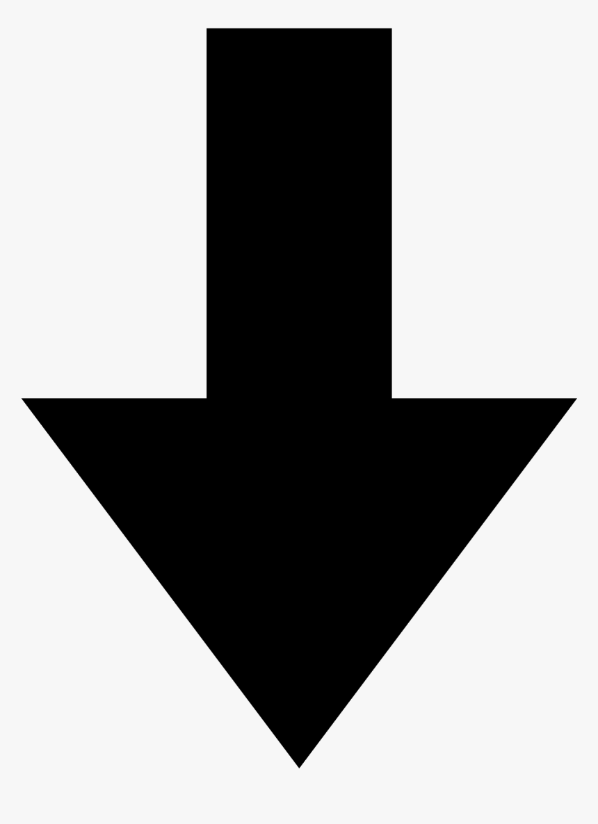 Guess The Emoji Arrow Pointing Down The Emoji - Black Down Arrow Png, Transparent Png, Free Download