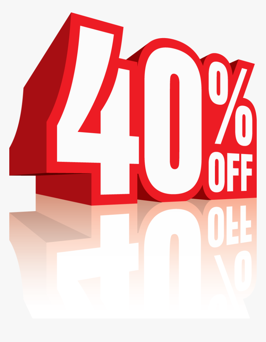 40% Off Png - 40 Discount Png, Transparent Png, Free Download