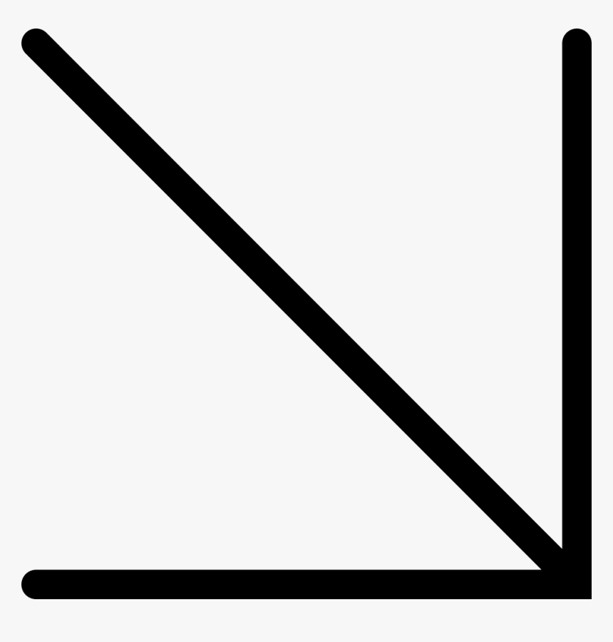 Diagonal Right Arrow Pointing Down, HD Png Download, Free Download