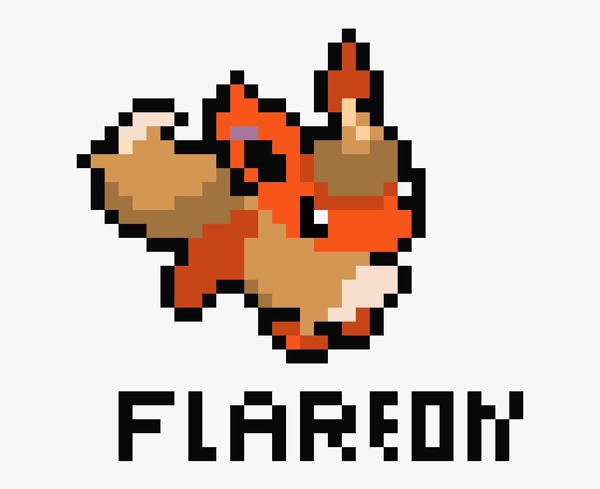 Flareon Direct Image Link Pixel Art Demon Hd Png Download Kindpng