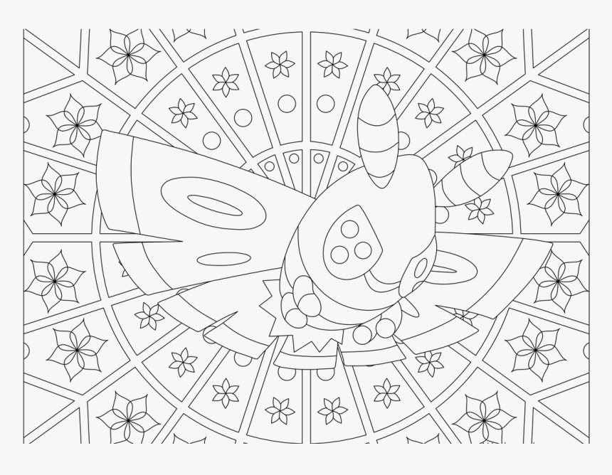 Adult Pokemon Coloring Page Dustox - Adult Coloring Pages Pokemon, HD Png Download, Free Download