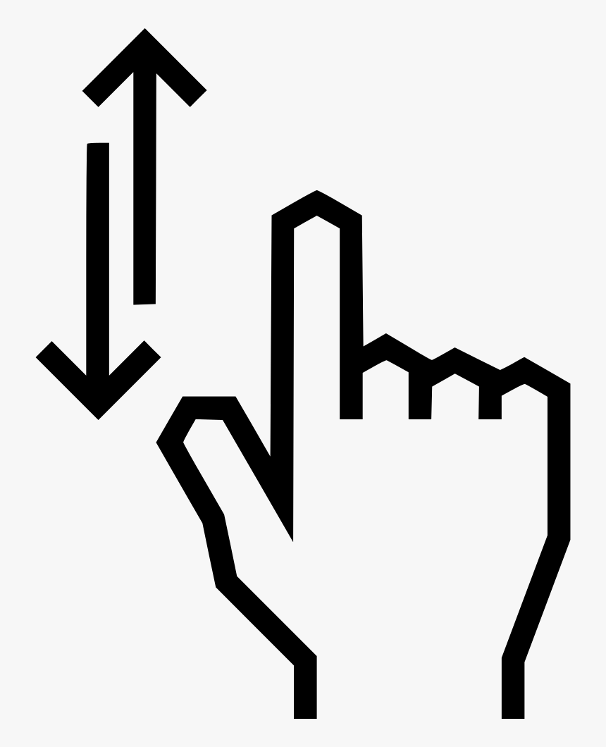 Swipe Arrow Up Down - Swipe Up Down Icon, HD Png Download, Free Download