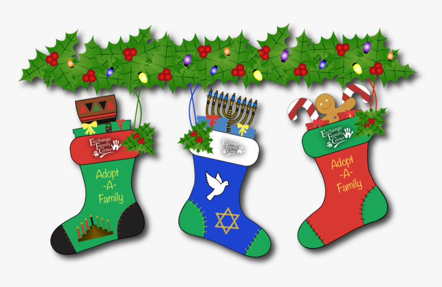 Adptfamily2@2x - Christmas Stocking, HD Png Download, Free Download