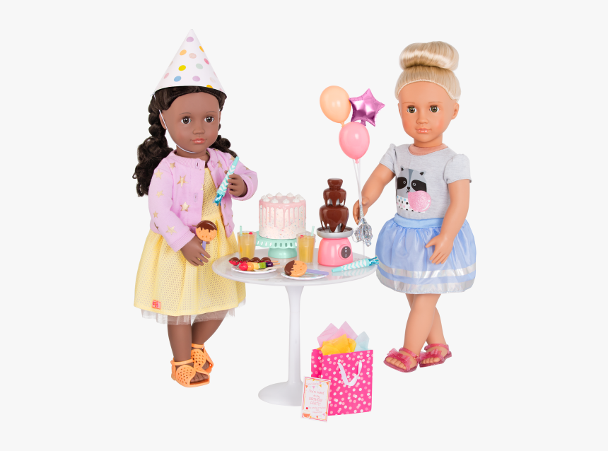 Sweet Celebration Birthday Party Set With Rashida And - Cartoon, HD Png Download, Free Download
