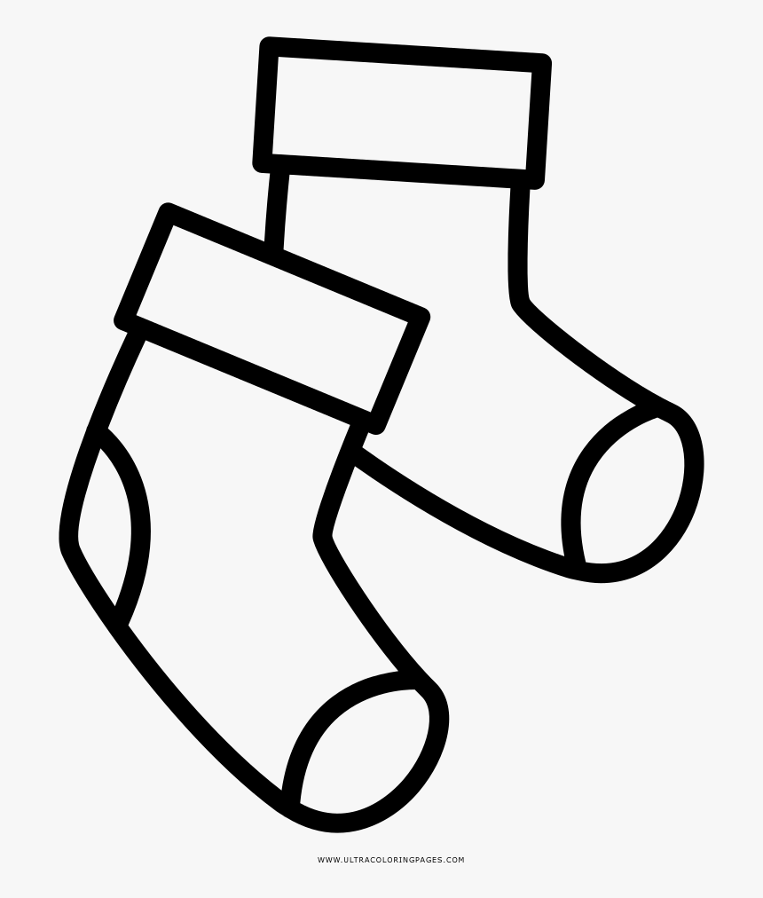 Creative Inspiration Socks Coloring Page Ultra Pages - Socks Clipart Coloring, HD Png Download, Free Download