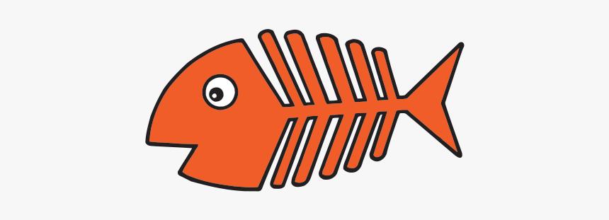 Tribal Fish Bones Clipart Png Black And White Download - Cartoon Fish Bones Clip Art, Transparent Png, Free Download