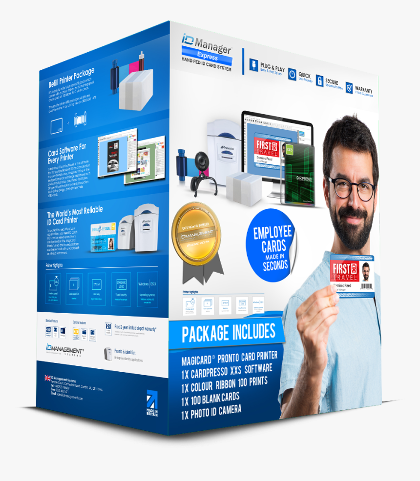 Id Manager Employee Id Card System Card Printer Hd Png Download Kindpng