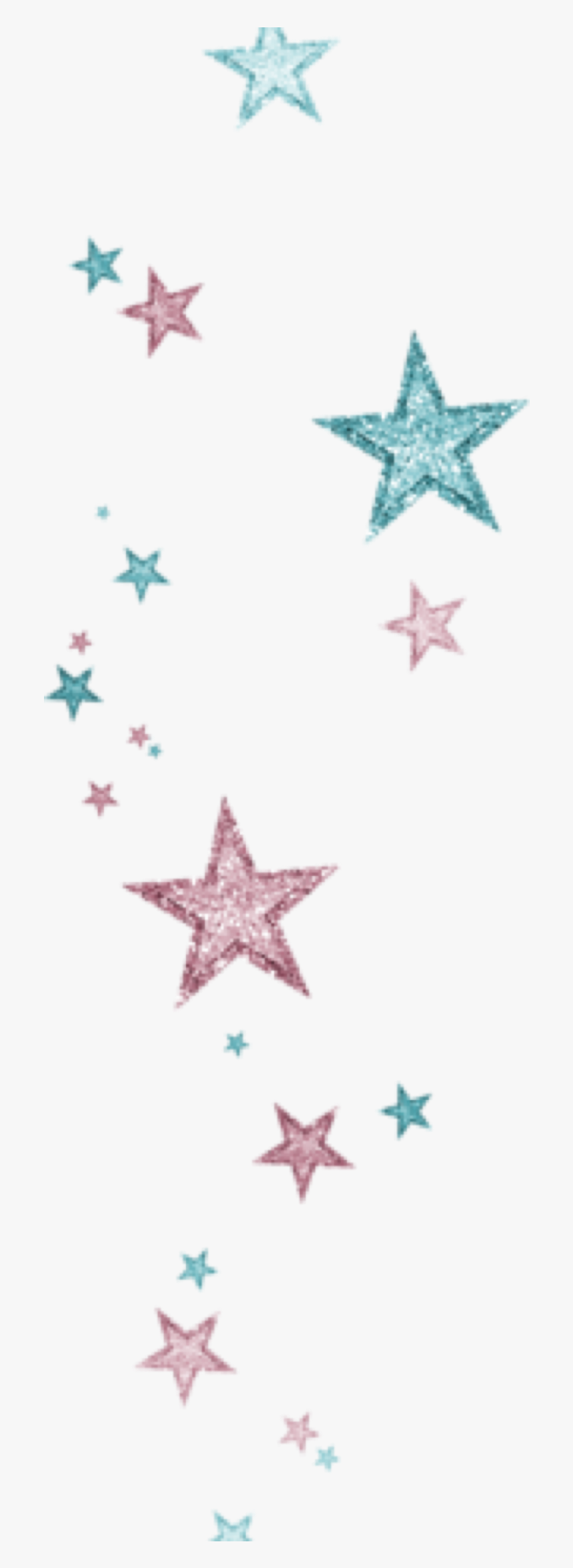 #star #stars #blue #rainbow #light #dust #grunge #shiny - Textile, HD Png Download, Free Download