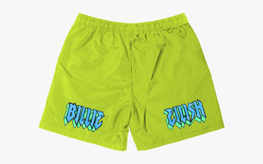 Billie Eilish Flames Shorts Billie Eilish Lime Green Shorts Hd Png Download Kindpng