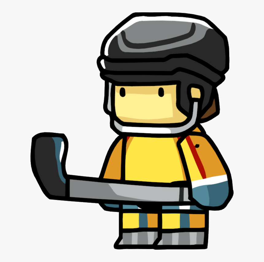Transparent Hockey Puck Clipart - Scribblenauts Hockey Player, HD Png Download, Free Download