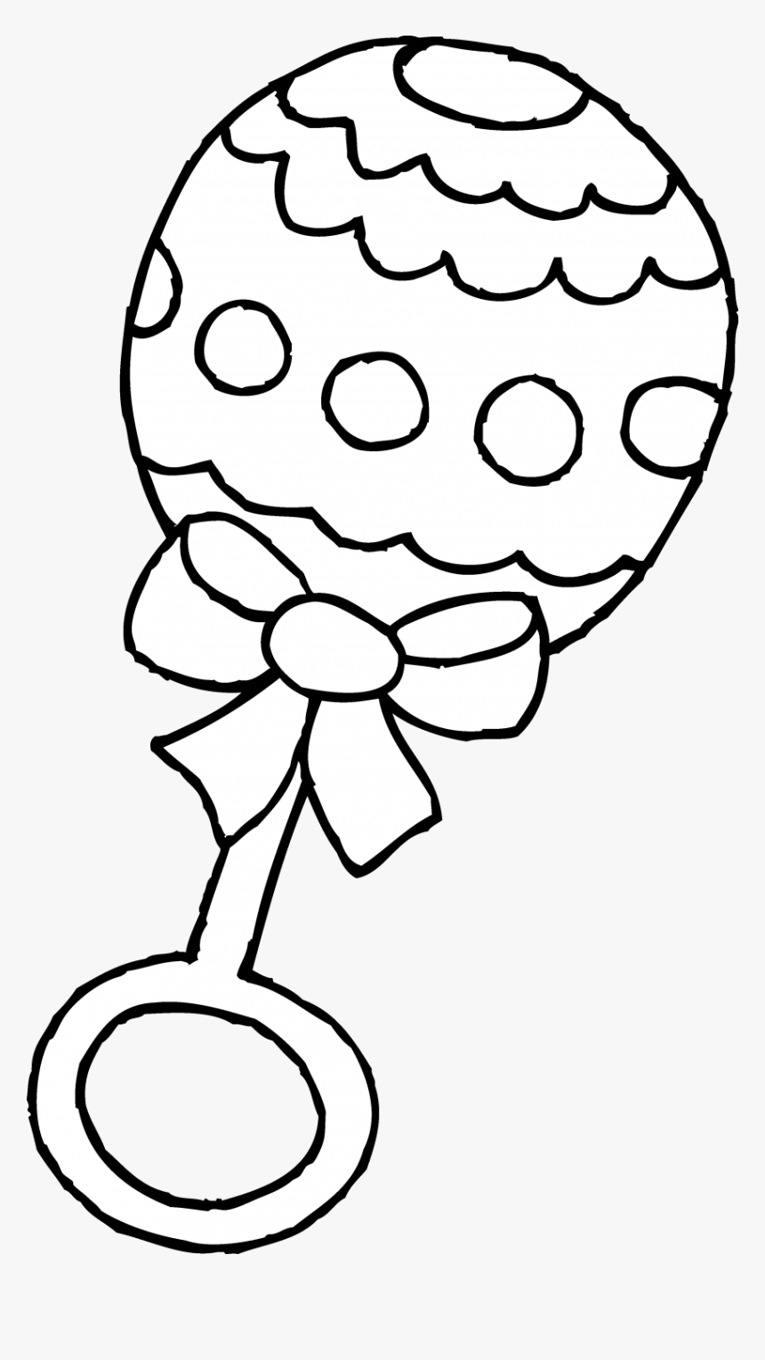 Baby Shower Coloring Pages Wedding Guest Book Elephant - Baby Bottle Coloring Pages, HD Png Download, Free Download