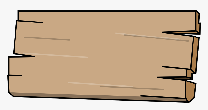 Wood, Board, Wooden, Plank, Panel, Sign - Cartoon Plank Of Wood, HD Png Download, Free Download
