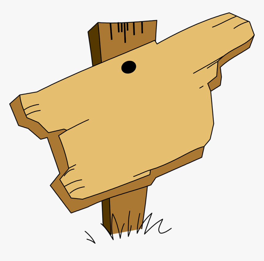 Clip Art Wood For Free - Sign Wood Clipart, HD Png Download, Free Download