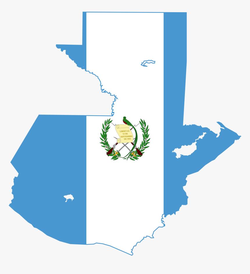 Clip Art Guatemala Flag Symbols - Guatemala Flag Map, HD Png Download, Free Download