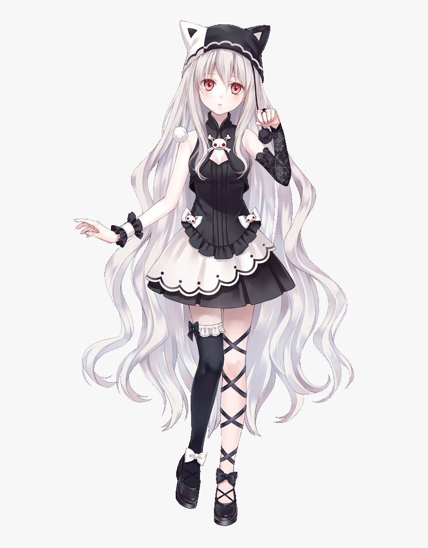 Long Hair Cute Anime Girl Hd Png Download Kindpng