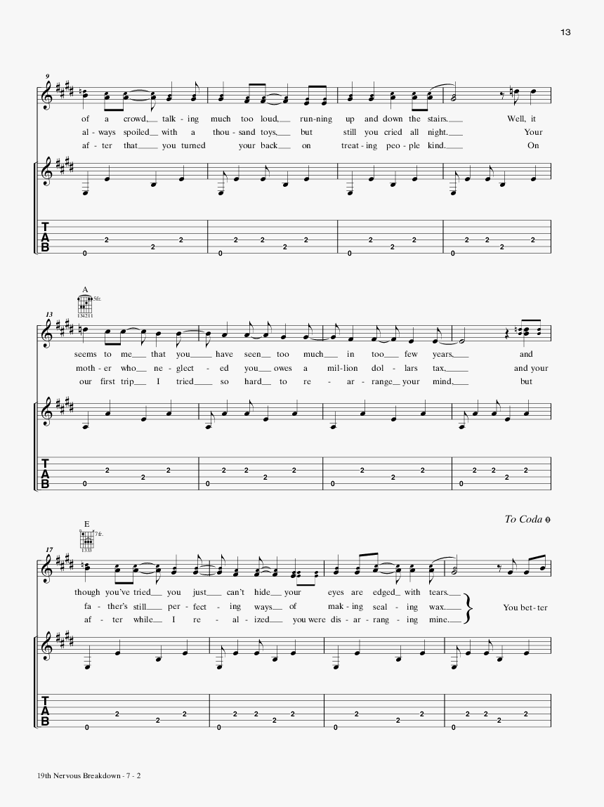 Product Thumbnail - Lazy Sunday Small Faces Sheet Music, HD Png Download, Free Download