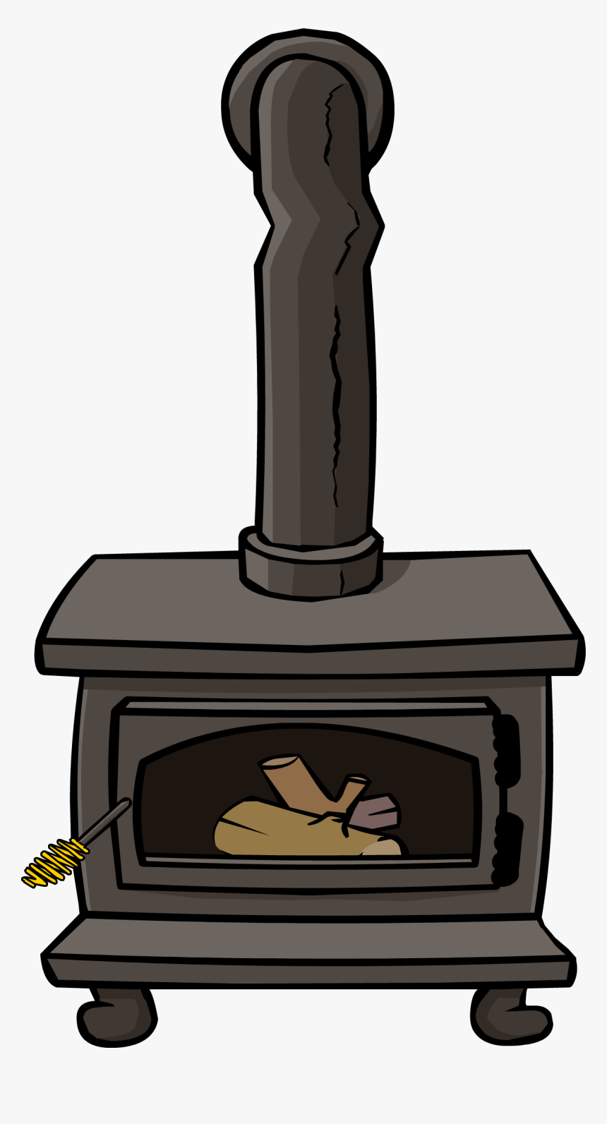 Clipart Fire Stove - Wood Burning Stove Clip Art, HD Png Download, Free Download