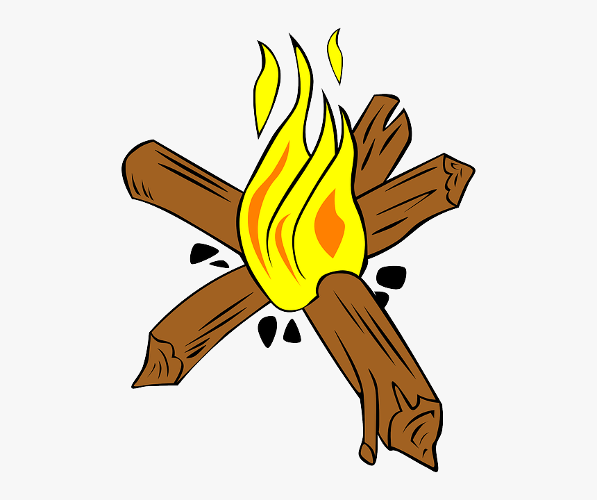 Transparent Cartoon Flames Png - Star Fire For Camping, Png Download, Free Download