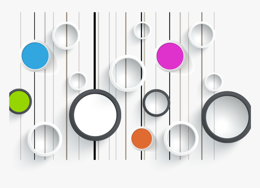Circles Colored Wall Wallpaper Mural Computer Graphics 3d Circle Design Png Transparent Png Kindpng