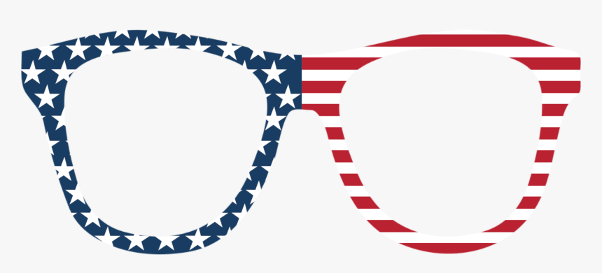 Stars & Stripes Sunglasses Photo Booth Prop - 4th Of July Photo Booth Props Printable, HD Png Download, Free Download