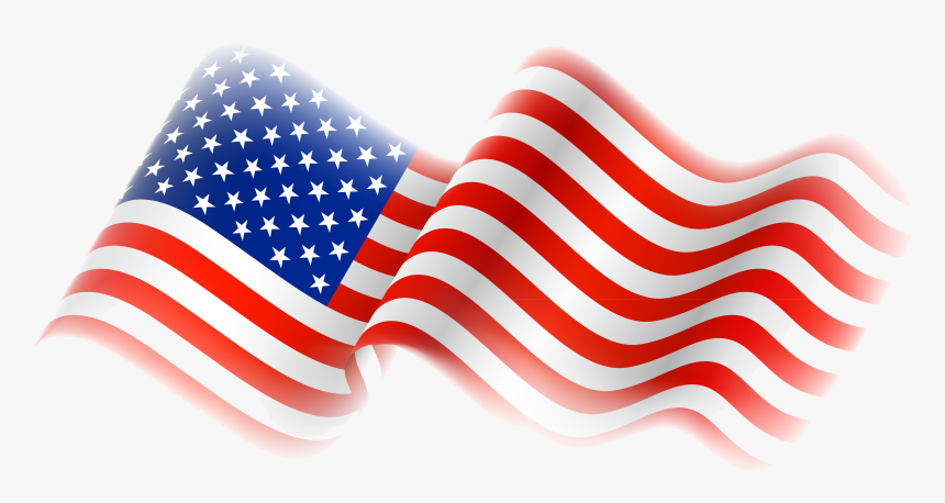 4th Of July American Flag Ribbon Clipart Transparent - Us Flag Transparent Background, HD Png Download, Free Download