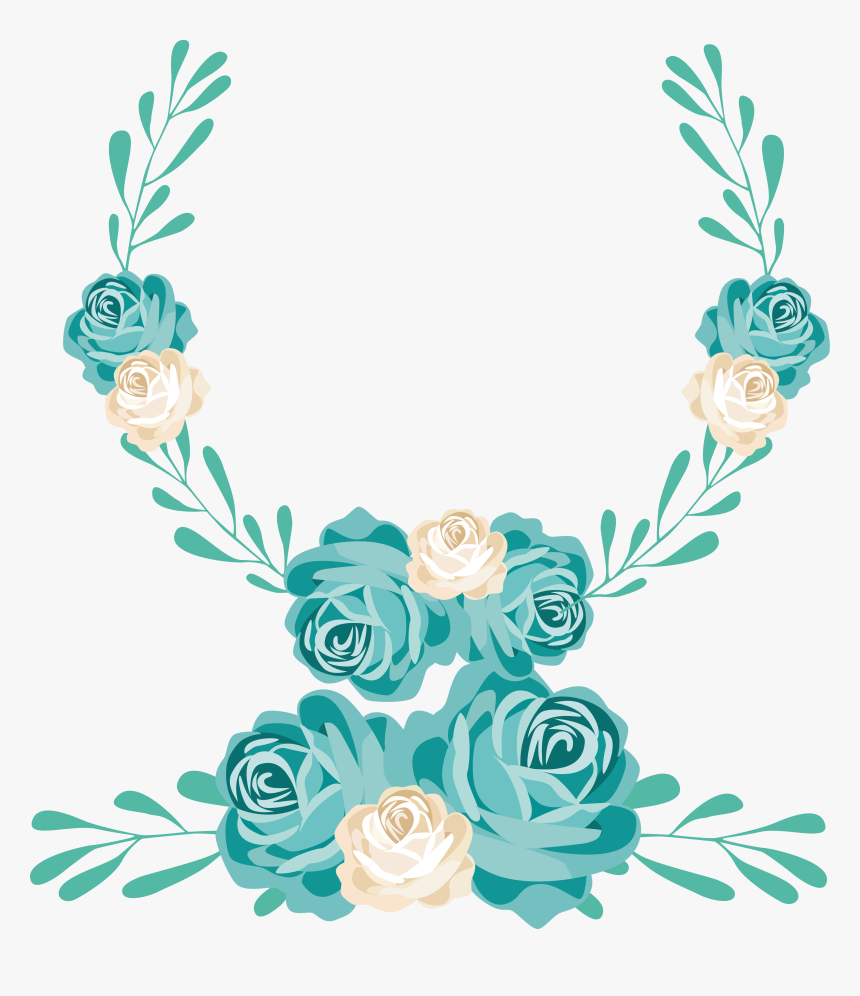 Turquoise Flower Png - Transparent Turquoise Flower Png, Png Download, Free Download