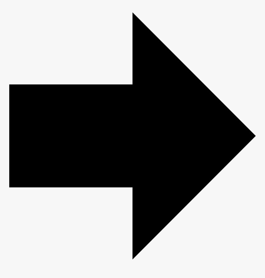 Transparent Fat Arrow Png - Black Arrow Icon Transparent, Png Download, Free Download