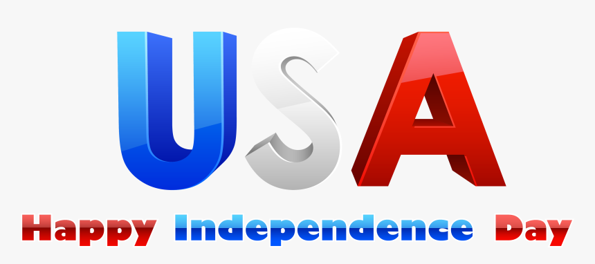 Usa Happy Independence Day Png Clipart - Independence Day, Transparent Png, Free Download