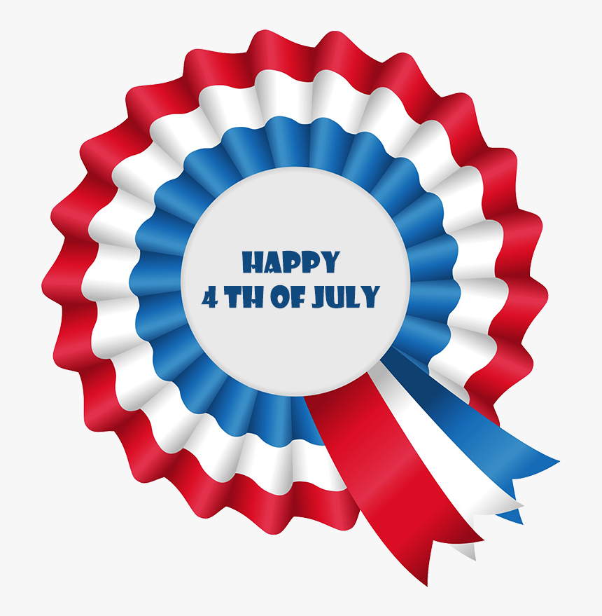 Happy Fourth Of July Greeting - Winner Ribbon Red White And Blue, HD Png Download, Free Download