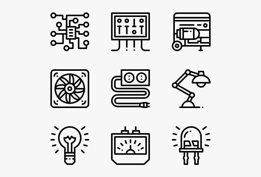 Electrician Tools - Drawing Icons, HD Png Download, Free Download