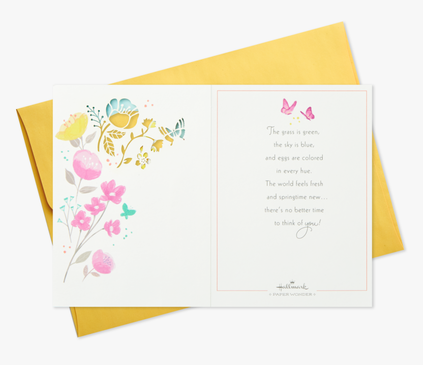 Welcome Easter Pop Up Shadow Box Easter Card - Greeting Card, HD Png Download, Free Download