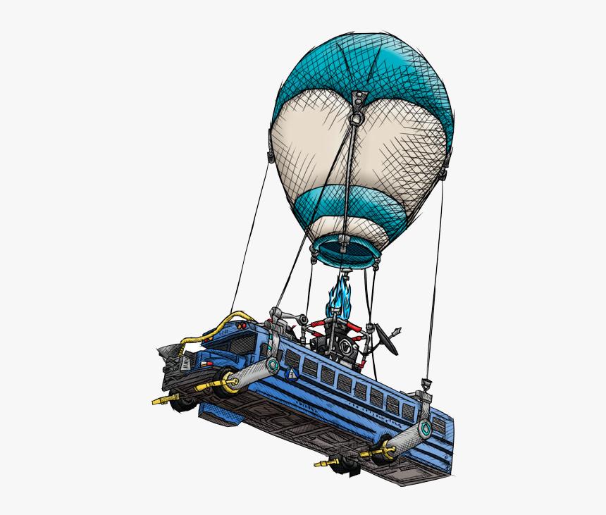 Fortnite Battle Bus Transparent & Png Clipart Free - Fortnite Battle Bus Png, Png Download, Free Download