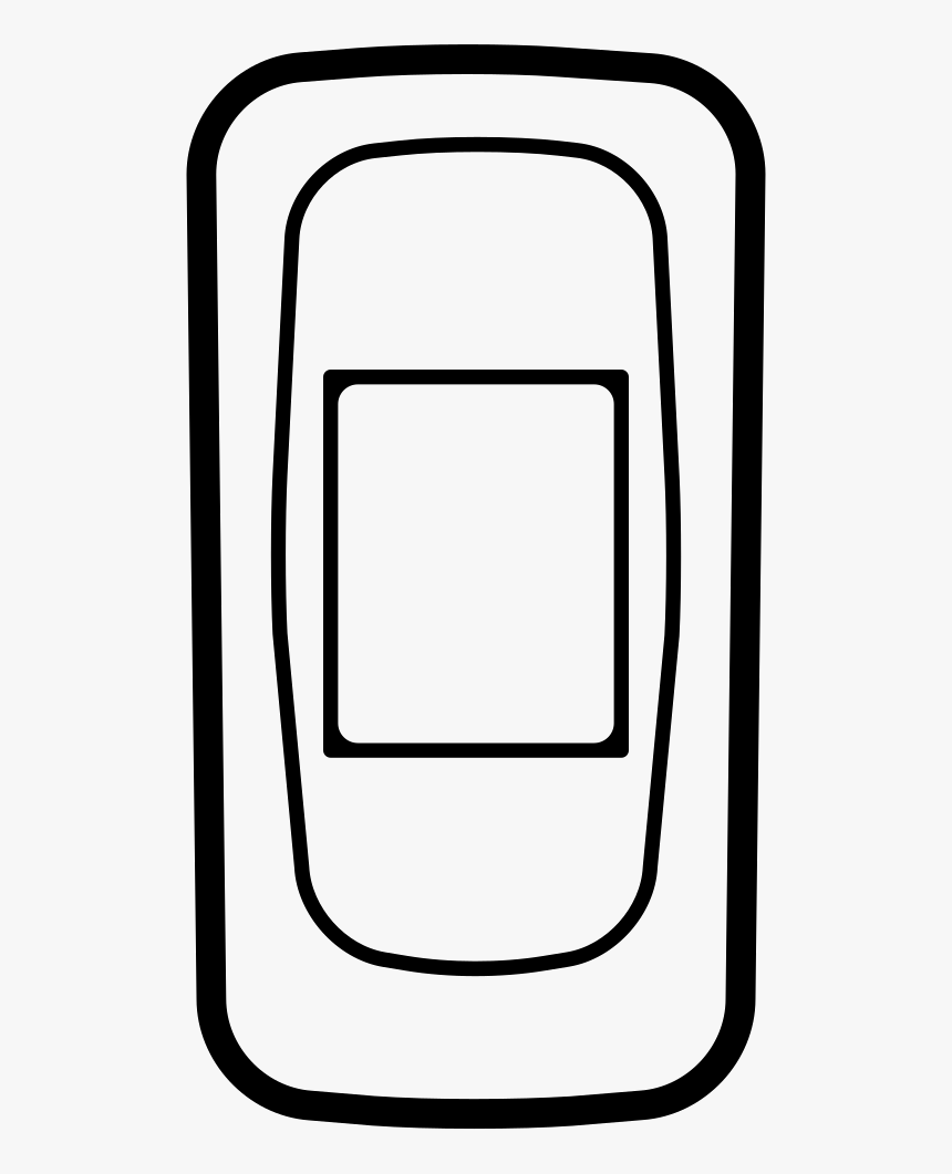 Mobile Phone Outlined Variant, HD Png Download, Free Download