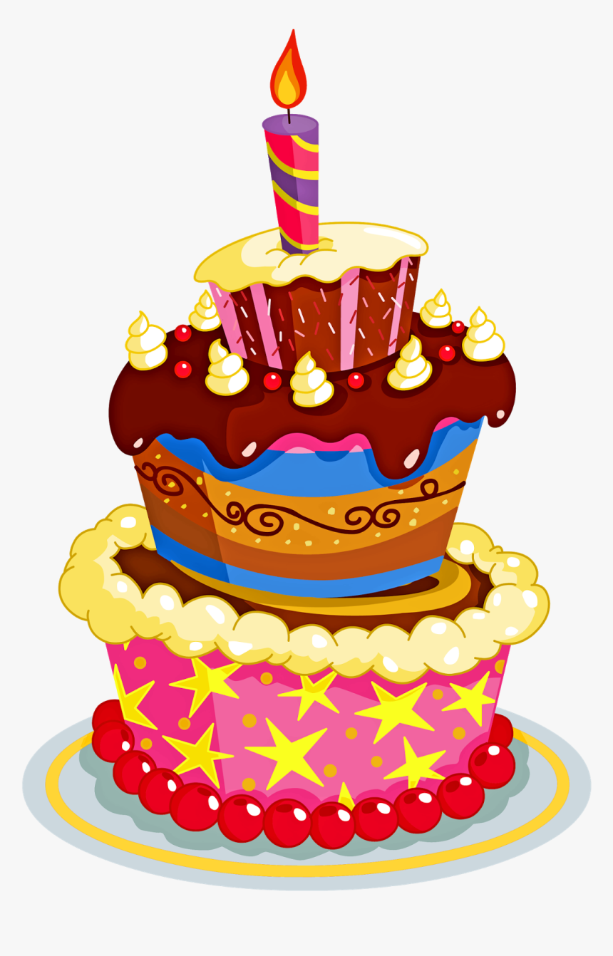 Awesome Bolo De Aniversario Em Png Colored Birthday Cake Drawing Personalised Birthday Cards Veneteletsinfo