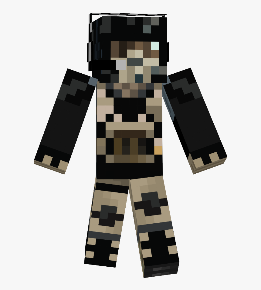 Transparent Cod Ghost Png - Skin De Minecraft De Call Of Duty, Png Download, Free Download