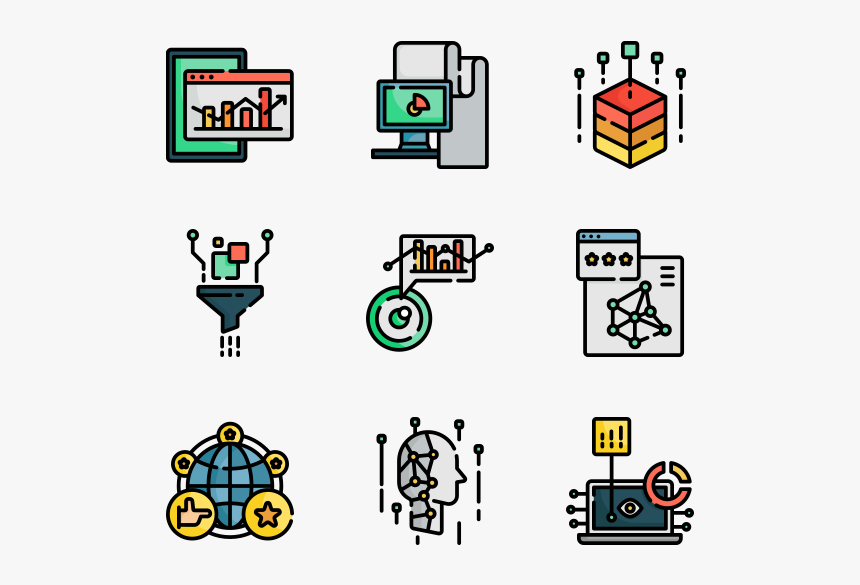 Big Data Free Icons Vector, HD Png Download, Free Download