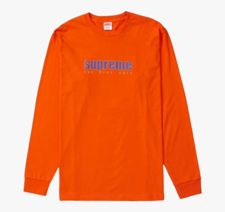 Supreme The Real Shit Ls Tee Orange - T-shirt, HD Png Download, Free Download