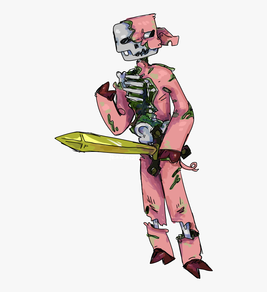 Worrisome Zombie Pigman - Minecraft Realistic Zombie Pigman, HD