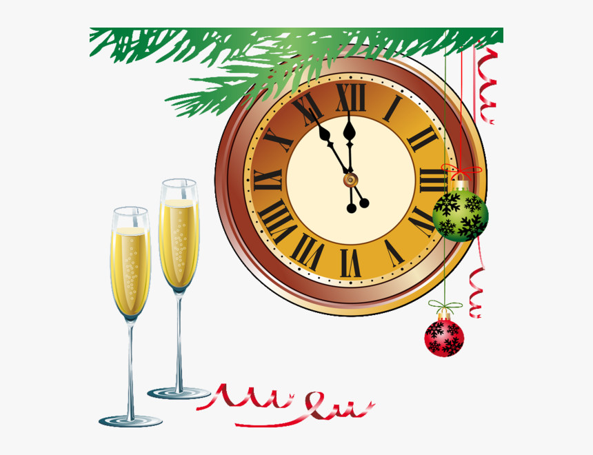 New Year Clocks - New Year's Eve Countdown Clock Png, Transparent Png, Free Download