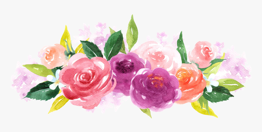 Hand Painted Colorful Flower Png Transparent - Floral Free Printable Recipe Cards, Png Download, Free Download