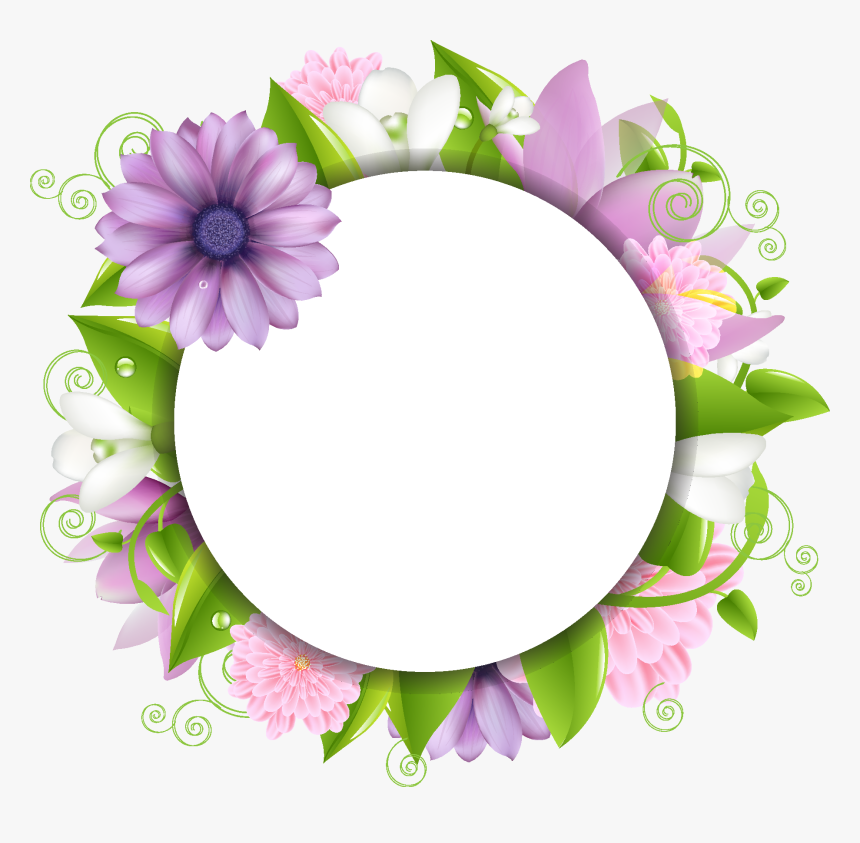 Flower Border Images Png Clipart , Png Download - Flowers Image Png Hd, Transparent Png, Free Download