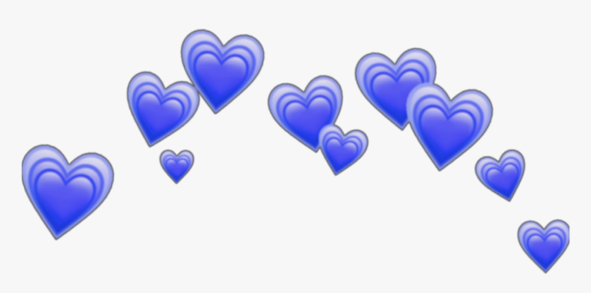 Blue Heart Crown Png, Transparent Png, Free Download