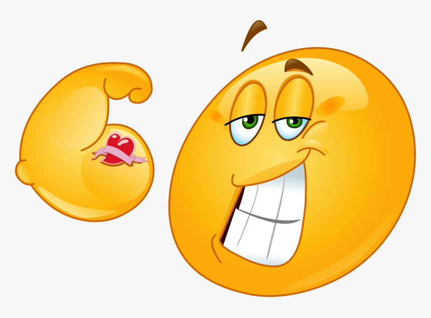 Muscle Emoji Png - Smiley Musclé, Transparent Png, Free Download