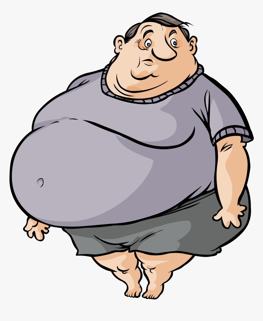 Cute Cartoon Fat Man Free Transparent Image Hq Clipart - Fat Clipart Png, Png Download, Free Download