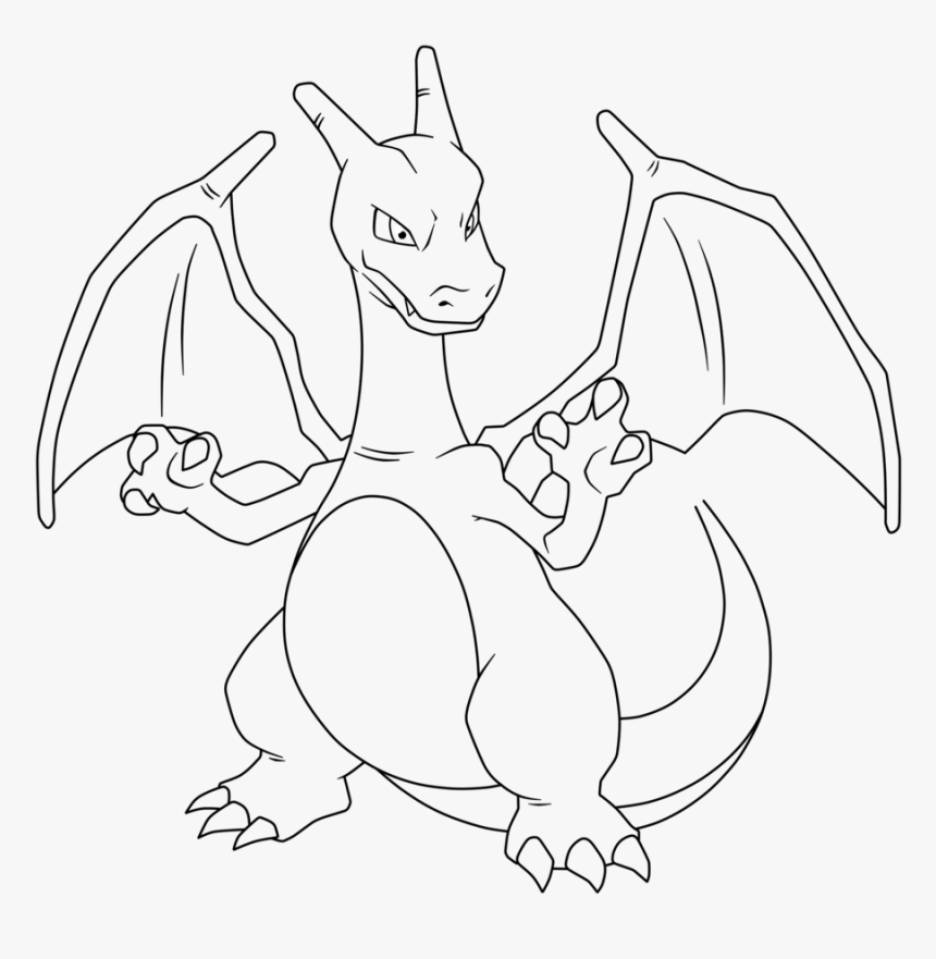 Pokemon Charizard Coloring Pages Mega Charizard Para Colorear